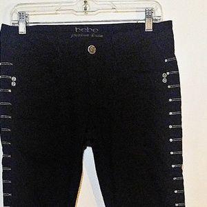 BeBe Black Jeans Boot Leg M Rise 28